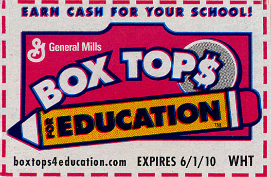 Box Tops Labels Milk Caps Vista View Parent Teacher